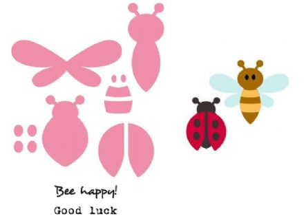 COL1356 ~ BEE  and LADYBIRD ~ Marianne Design Collectables
